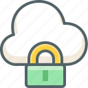 cloud, forecast, lock, protection, safety, security, weather icon