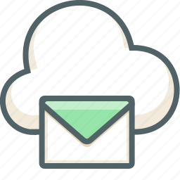 cloud, communication, email, forecast, mail, message, weather icon