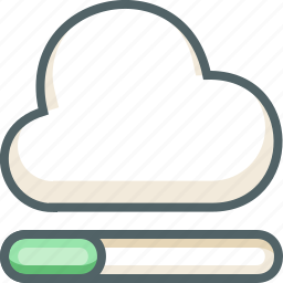 cloud, data, forecast, network, process, storage, weather icon