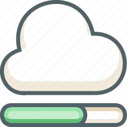 cloud, data, database, forecast, process, server, weather icon