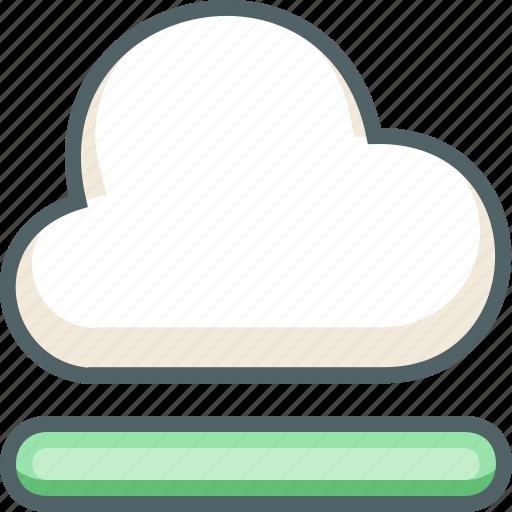 cloud, data, database, forecast, process, server, weather icon