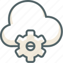 cloud, forecast, options, preferences, setting, storage, weather icon