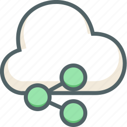 cloud, communication, forecast, network, share, social, weather icon