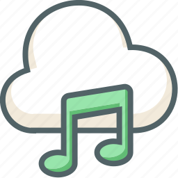 bar, cloud, forecast, music, note, single, weather icon