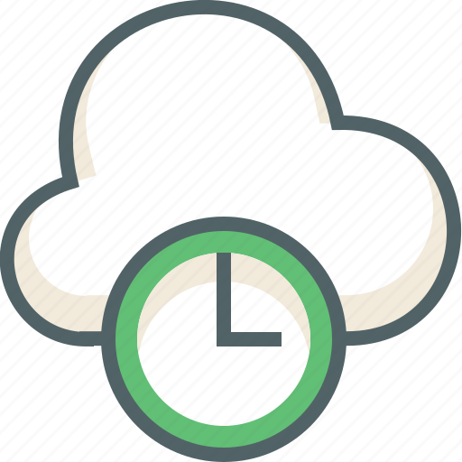 alarm, clock, cloud, forecast, time, timer, weather icon
