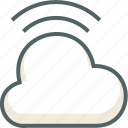cloud, forecast, internet, network, weather, wifi, wireless icon