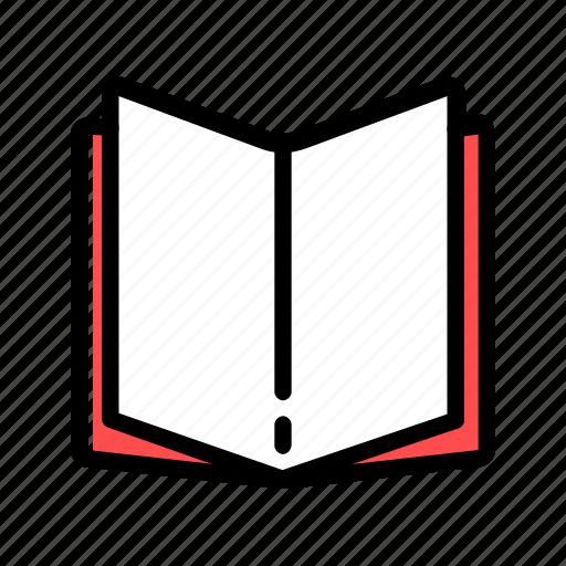 book, copybook, notes, open, read icon