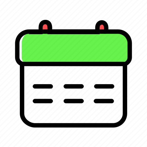 calendar, date, month, notification, time icon
