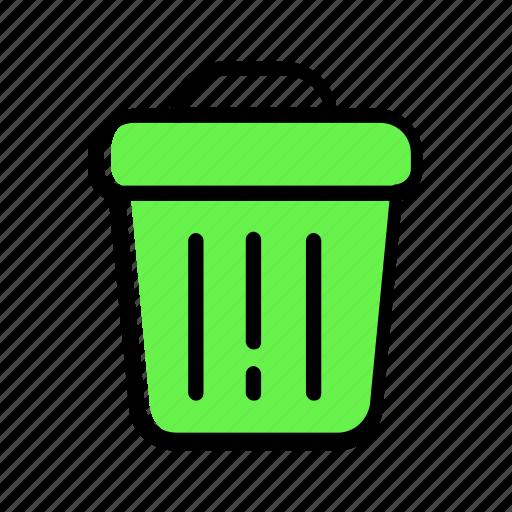 bin, bucket, rubbish, trash, tub icon