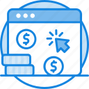 buying, coin, curreny, internet, online, pay per click, payperclick, webpage icon icon