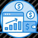 browser, coin, concept, financial market, money, waller, webpage icon