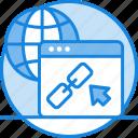 global, link, link building, linked website, seo link, web link icon, world icon