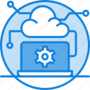 cloud computing, cloud computing concept, cloud monitor, cloud on screen, cloud storage, gear, network icon
