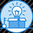 box, brainstorm, idea, imagination, outside, think, thinking icon icon