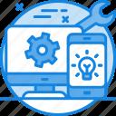 configuratio, contact us, creation, customer service, customer support icon, ide icon