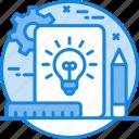 creative, gear, idea, project development, project development icon icon