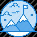 discover, explore, mission, mountain, nature, success icon icon