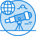 astronomy, explore, observation, planet, star, telescope icon icon