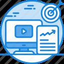 digital marketing, marketing, publicity, video ad, video marketing icon icon