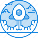 business, launch, rocket, solid, spaceship, startup icon icon