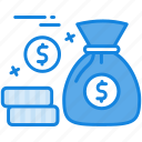 advertisement, budget, coin, dollar, hand, hold, investment, money bag, social media icon icon