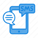 email, mail, message, mobile, phone, sms, sms marketing icon icon