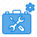 maintenance, service tools, technical support, toolbox, workshop icon icon