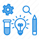 business, concept, configuration, evaluate, idea, implementation, innovation icon icon