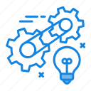 creative process icon, development, innovation, process, technology icon