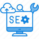 chart, gear, graph, maghnifier, monitoring, seo, seo icon icon icon