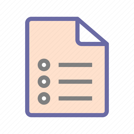 document, list icon