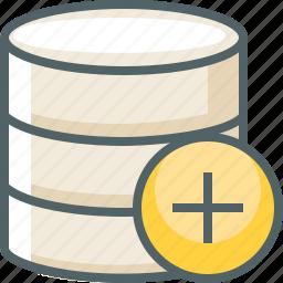 add, create, data, database, new, server, storage icon