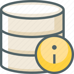 data, database, info, infomation, server, storage, support icon