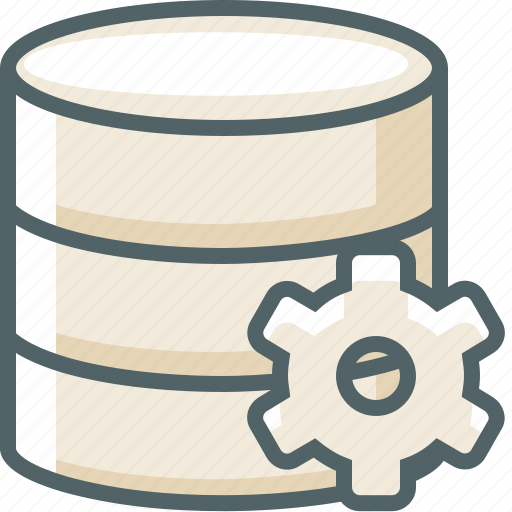 configuration, data, database, preferences, server, setting, storage icon