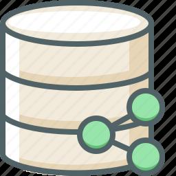 communication, data, database, network, server, share, storage icon