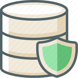 data, database, protection, secure, server, shield, storage icon