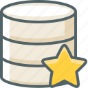 bookmark, data, database, favorite, server, star, storage icon