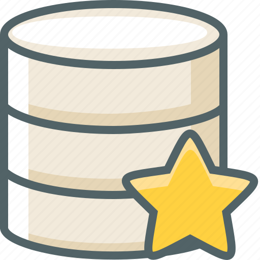 bookmark, data, database, favorite, server, star, storage icon
