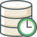 clock, data, database, server, storage, time, timer icon