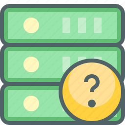 database, help, network, question, server, storage, support icon