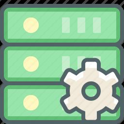 cog, configuration, database, preferences, server, setting, storage icon