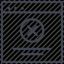 cancel, design, layout, remove, ui icon