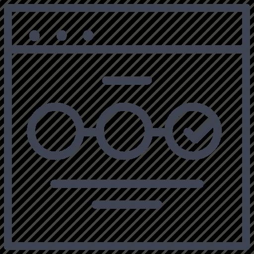 checkmark, choices, circle, design, ui icon