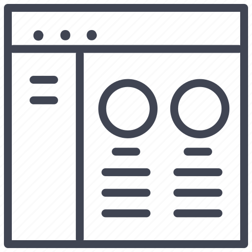 circle, design, double, layout, round, ui icon