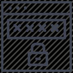 design, layout, locked, password, ui icon