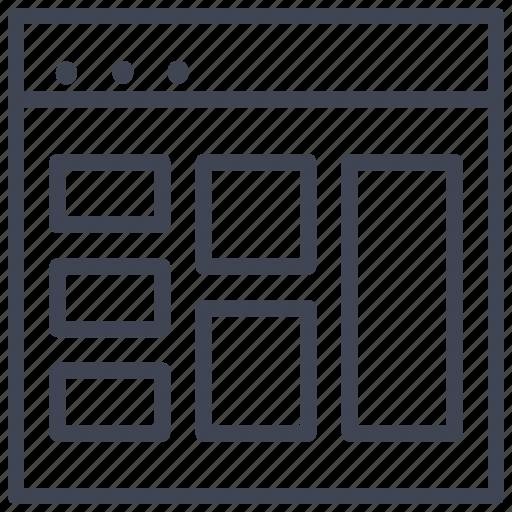 design, layout, multiple, shapes, ui icon
