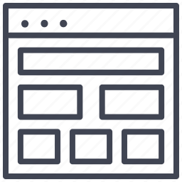 design, landscape, layout, multiple, shapes, ui icon