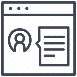 design, layout, personal, profile, ui icon