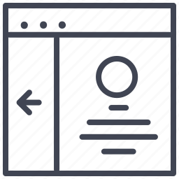 arrow, design, layout, round, ui icon