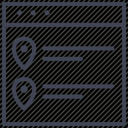 design, layout, list, navigation, ui icon